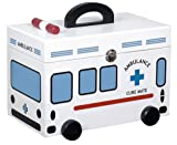 Comolife Ambulance Style First Aid Kit , Color : White , Size : H10.53 x W12.48 x D8.38 inches