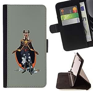 Momo Phone Case / Flip Funda de Cuero Case Cover - Emperador del Mal;;;;;;;; - HTC One M9