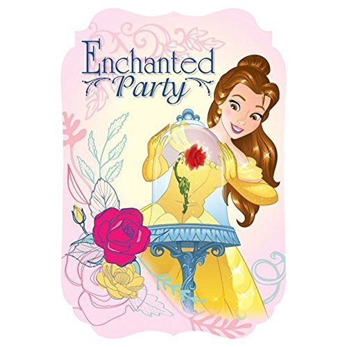 Belle Princess and the Beast Decoration Party Birthday Invitations Invite 24PC