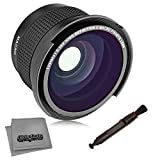 Opteka .35x HD Super AF Wide Angle Fisheye Lens with Macro and Microfiber Cloth for Canon EOS 80D, 77D, 70D, 60D, 60Da, 50D, 7D, 6D, 5D, 5DS, 1DS, T7i, T7s, T7, T6s, T6i, T6, T5i, T5, T4i, T3i, T3,