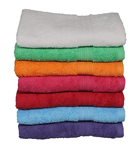 Goza Towels Cotton Hand Towels, 16 by 28 inch (4 Pack) (Multi Color)