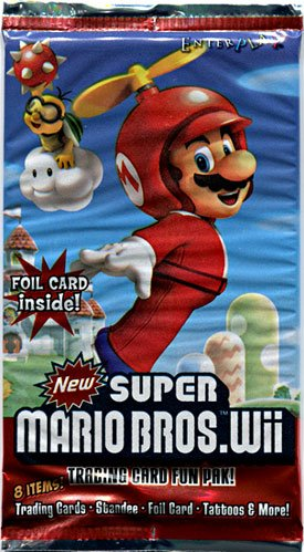 New Super Mario Bros. Wii Enterplay Trading Card Fun Pak -