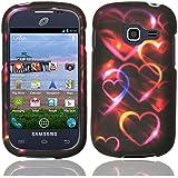 For SamsungGalaxy Centura S738C Hard Design Cover Case Colorful Hearts Accessory