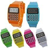 Siviki Unsex Silicone Multi-Purpose Date Time Electronic Wrist Calculator Watch