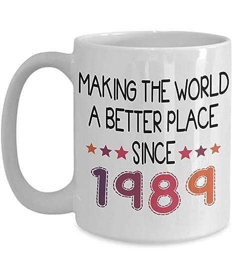1989 cumple 30 años feliz cumpleaños taza de café ...