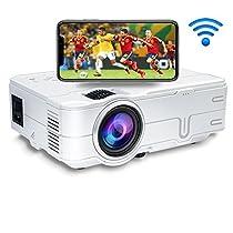 YOKOO ledプロジェクター 小型 フルhd プロジェクター ホームシアター データプロジェクター 2000ルーメン 1080P wifi無線接続 hdmi 台形補正 パソコン/スマホ/タブレット/PS3/PS4/DVDプレイヤーなど接続可 PSE認証