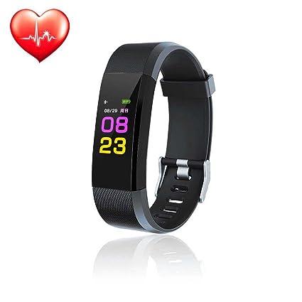 Reloj de actividad física Teepao, con monitor de ritmo cardíaco, resistencia al agua IP67
