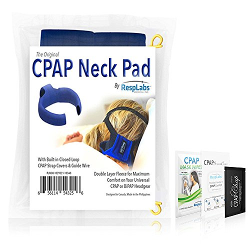 CPAP Headgear Neck Pad – w/Built-in Strap Covers – For Full Face and Nasal Masks by RespLabs Medical Inc.®