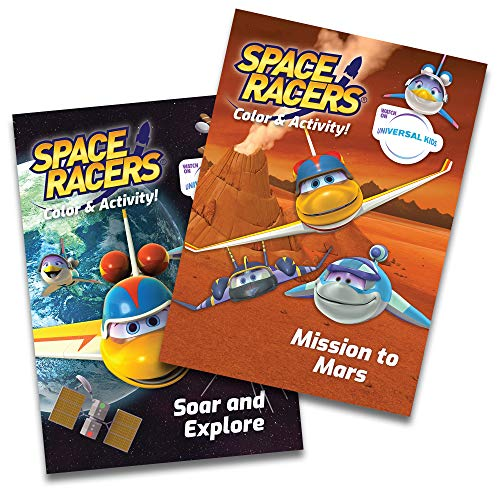 g & Activity Books - Jumbo 2 Book Set - Mission to Mars - Soar and Explore - Fun Preschool STEM Activities for Kids - Coloring Pages - Science Games - Mazes - 96 Pages Each ()