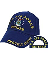 Eagle Emblems Men's US Air Force Retired Embroidered Ball Cap