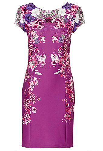 2016 Soirée Élégante Robe Luxu Mode Taille Luxu Gala De 2 Mi Cocktail longue Angatrade floral S floral Couleur xfzH0nUFFq