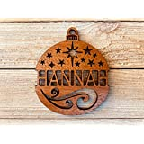 Personalized Christmas Ornament 2018 Solid Wood Starry Nights Design