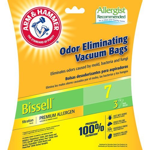 ARM & HAMMER Bissell 7 Premium Bag (1 Pack of 3 Bags)