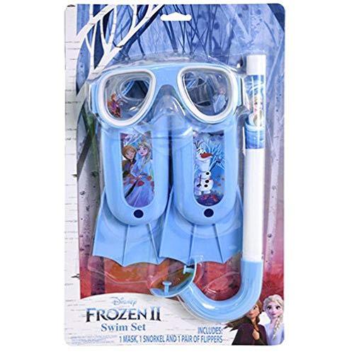 Frozen 2-3 pc Swim Set on Blister Card 1 Mack 1 Snorkel 1 Flippers