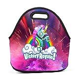 Ryaody Lunch Tote Fortnite Rainbow Llama Lunch Bag Adult Kids - Idea Beach, Picnics, Road Trip, Meal Prep,Daily, Lunch to Work School