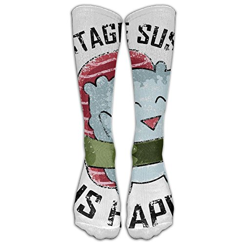 LBLOGITECH Vintage Sushi Hear Ghost Casual Novelty Calf High Athletic Sock Outdoor Gift