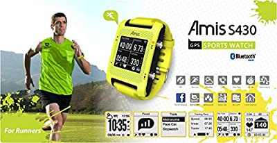 Bryton Amis S430H GPS Running Watch + Heart Rate Monitor (Yellow)