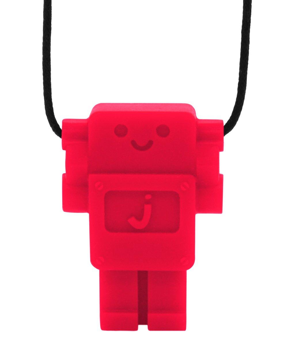 ママがつけるお子様用歯固めペンダント jellystone ジェリーストーン ロボット レッド  レッド B007ZDZU2I