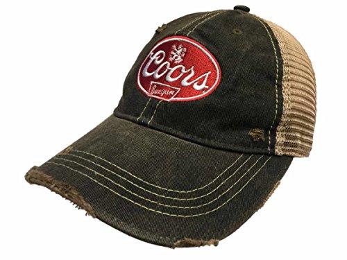 Coors Banquet Brewing Company Retro Brand Vintage Mesh Beer Charcoal Adj Hat (Vintage Retro Hat)