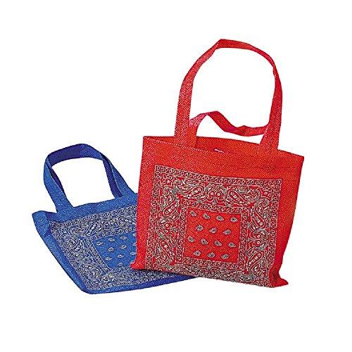 Woven Bandana (2 ~ Bandana Mini Tote Bags / Gift Bags ~ Poly Non-woven ~ Approx. 6