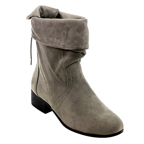 Suede Mid Calf Boots - 7