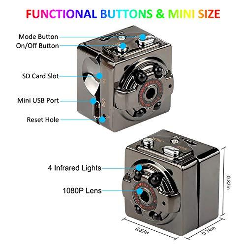 Mini Spy Camera Wireless Hidden, ORGOR Full HD 1080P Portable Small Covert Home Nanny Cam with Night Vision, Indoor/Outdoor Micro Security Surveillance Hidden Camera