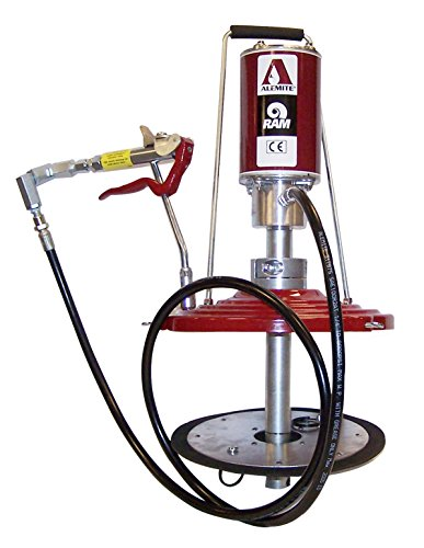 Drum Pump Pneumatic (Alemite 9911-J Pneumatic Portable RAM Pump, 35 lb Drum Size, 3/8