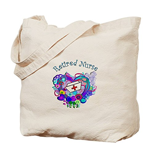 Cafepress–Retired nurse–Borsa di tela naturale, tessuto in iuta