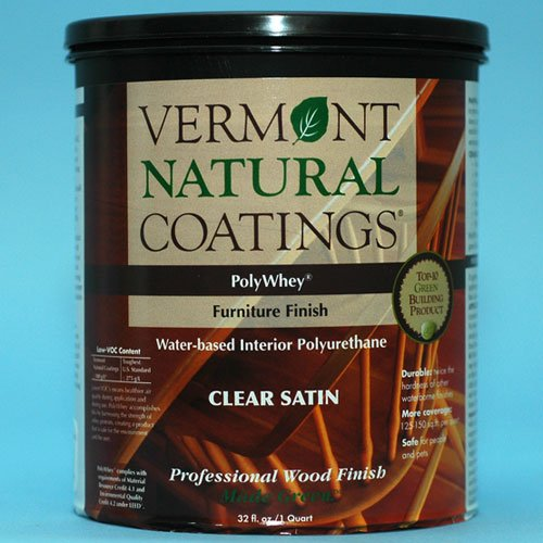 (Vermont Natural Coatings Poly Whey Furniture Finish, Clear Satin Finish, 1 Quart)