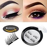 #8: Magnetic Eyelashes [Glue free] Handmade Ultra-thin 0.2mm Reusable Natural 3D Magnetic False Eyelashes 4 Pcs