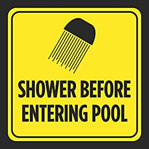 Shower before entering pool picture print - Commercial swimming pool safety equipment ...