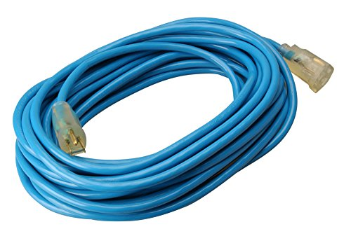 Southwire 02568 50-Foot 12/3 Cold Weather Extension Cord, Blue (Best Extension Cord For Cold Weather)