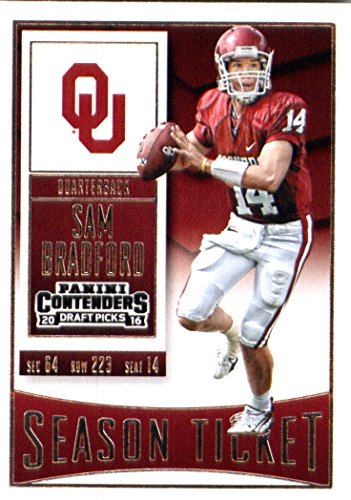 2016 Panini Contenders Draft Picks #89 Sam Bradford Oklahoma Sooners Football Card in Protective Screwdown Display Case
