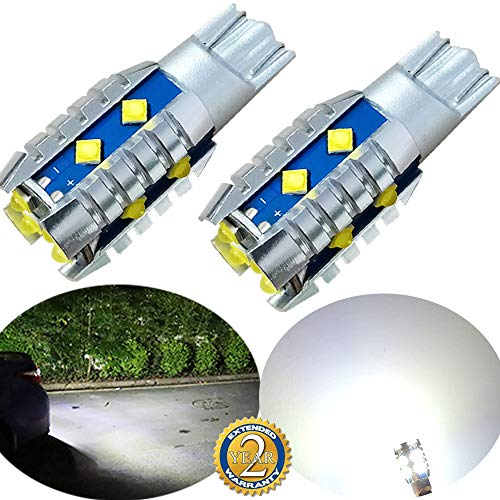 921 Led Bulb Reverse Light 9V-30V, 906 T15 W16W 912 921K Led Bulb for Led Backup Lights, Canbus Error Free 6000K Xenon White With Cree SMD Chips for Cars RV Trucks GeTor (2 Pack) (921 led buld)