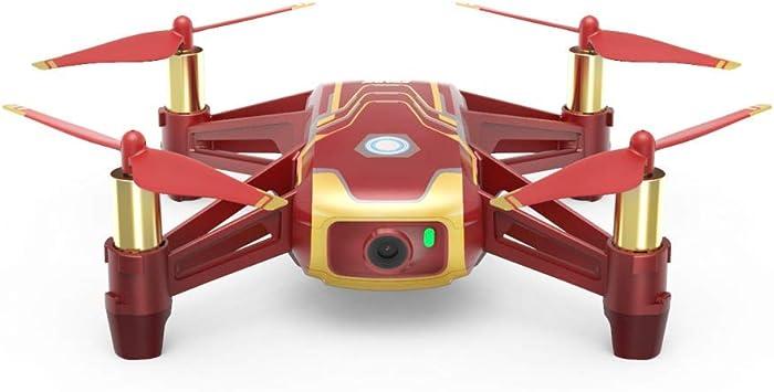 Opinión sobre Ryze DJI Tello Iron Man Edition - El Mini Drone es ideal para videos cortos con EZ-Shots, gafas VR y compatibilidad con dispositivos de juego, transmisión HD de 720p y alcance de 100 metros