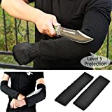 1 Pair Steel Wire Anti-cutting Arm Sleeves Gardening Work Outdoor Camping Level 5 Safety Protection