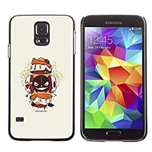 Caucho caso de Shell duro de la cubierta de accesorios de protección BY RAYDREAMMM - Samsung Galaxy S5 - Resumen de la criatura