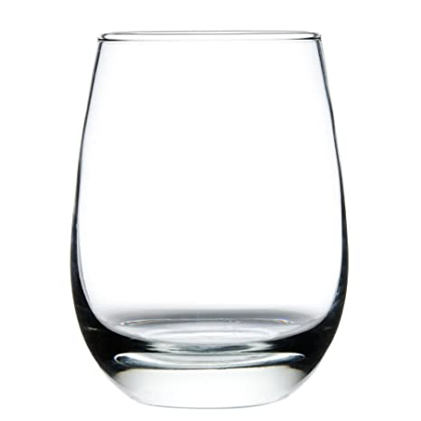 4b32f66e4ed Image Unavailable. Image not available for. Color: Libbey Stemless 15 oz All  Purpose Wine Glass #231, Set of 6 ...