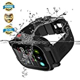 Apple Watch Waterproof Case for 40mm Apple Watch Series 4, EFFUN IP68 Waterproof Shockproof Impact Resistant Apple Watch Case Rugged Protective iWatch Case + 2 Soft Silicone Apple Watch Band Black