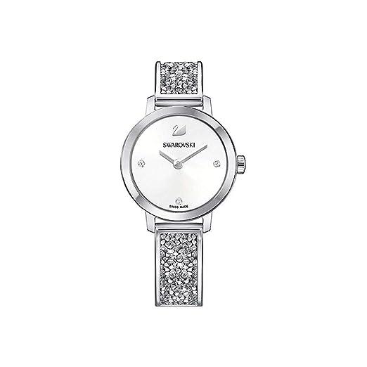 0c280cdb5 Swarovski Cosmic Rock Silver Bangle Watch 5376080: Amazon.co.uk: Watches