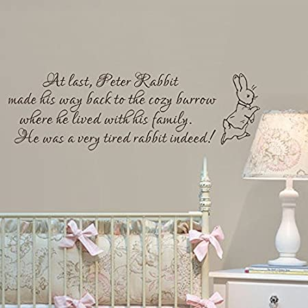 baby nursery wall decal peter rabbit wall sticker vinyl lettering