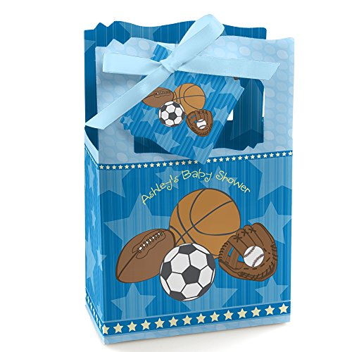 All Star Sports Toy Box - Custom All Star Sports - Personalized Baby Shower or Birthday Party Favor Boxes - Set of 12