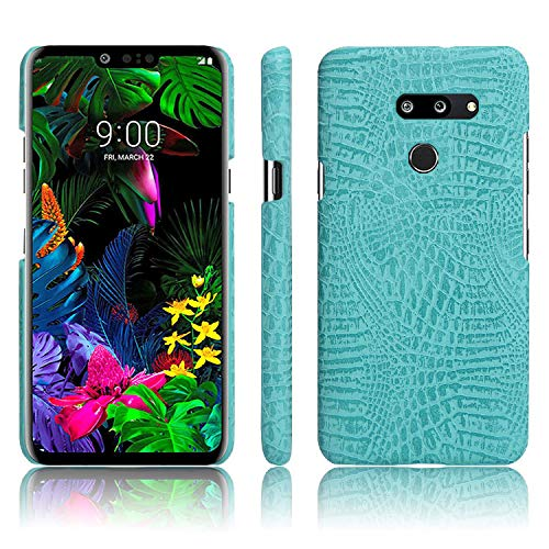 LG G8 ThinQ Case,LG G8 Case,Abeike Luxury Classic Crocodile Skin Pattern [Ultra Slim] PU Leather Anti-Scratch PC Protective Hard Case Cover for LG G8 ThinQ,LG G8 (Light Green) Cell Phone Hard Skin