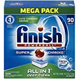 Finish All in 1 Powerball Mega Pack, 90 Tablets, Super Charged Automatic Dishwasher Detergent, Fresh Scent