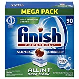 Image of Finish All in 1 Powerball Fresh 90 Tabs, Automatic Dishwasher Detergent Tablets