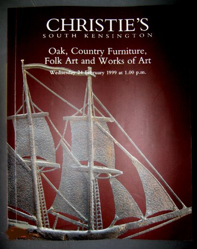 Christie's Auction Catalog Oak, Country Furniture, Folk Art and Works of Art 1999 - Country Oak Cupboard