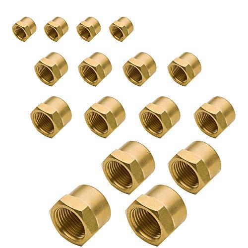 (Legines Brass Hex Head Pipe Cap Assortment Kit, 1/8