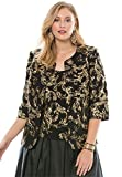 Roamans Alex Evenings Women's Plus Size Foil-Print Blazer Set by Alex Evenings Gold