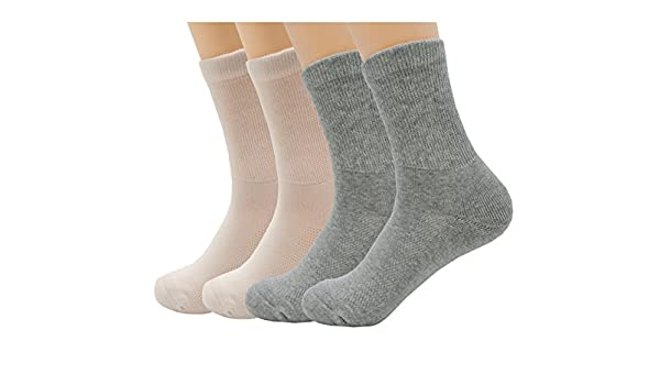 Antibacterial Crew Socks Diabetic Socks Super Stretch Comfortable for Men and Women Suit for the Injured//Wounded//Aged
