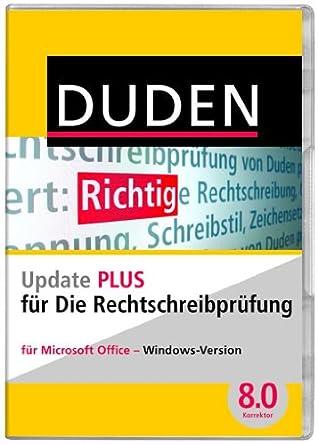 Duden Update Rechtschreibprüfung Plus Ms Office Korrektor Plus Update 80